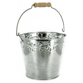 Embossed Galvanized Metal Bucket